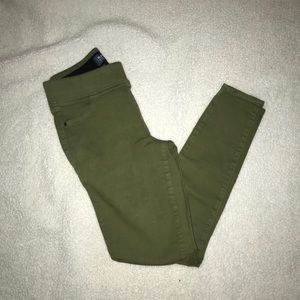 Old Navy Olive Green Jeggings
